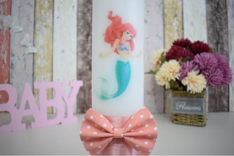 Lumanare de botez cu sirena Ariel