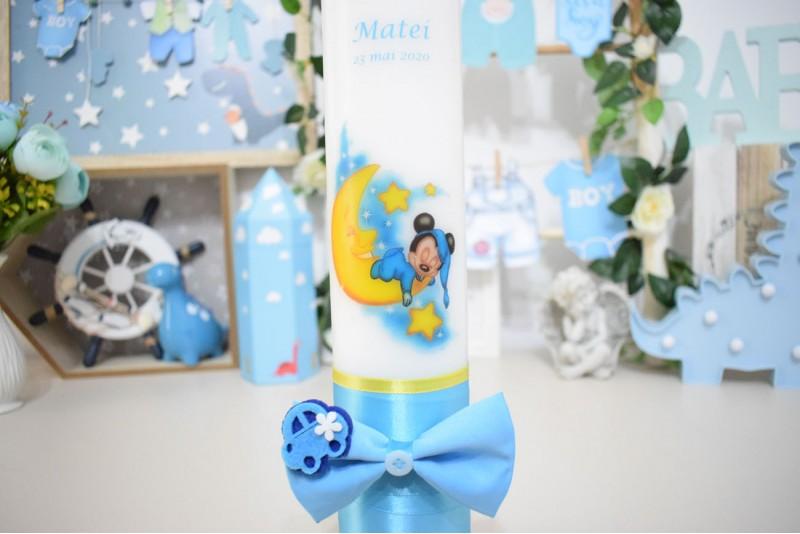 Lumanare botez personalizata Baby Mickey