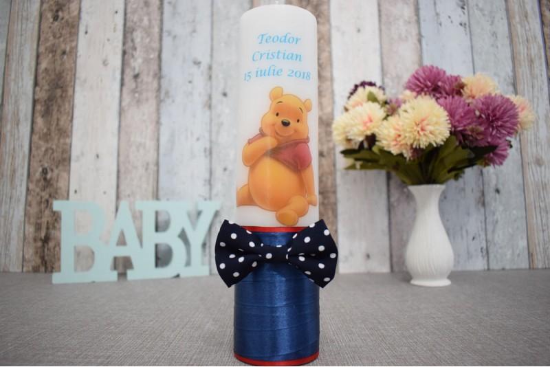 Lumanare de botez cu Winnie the Pooh