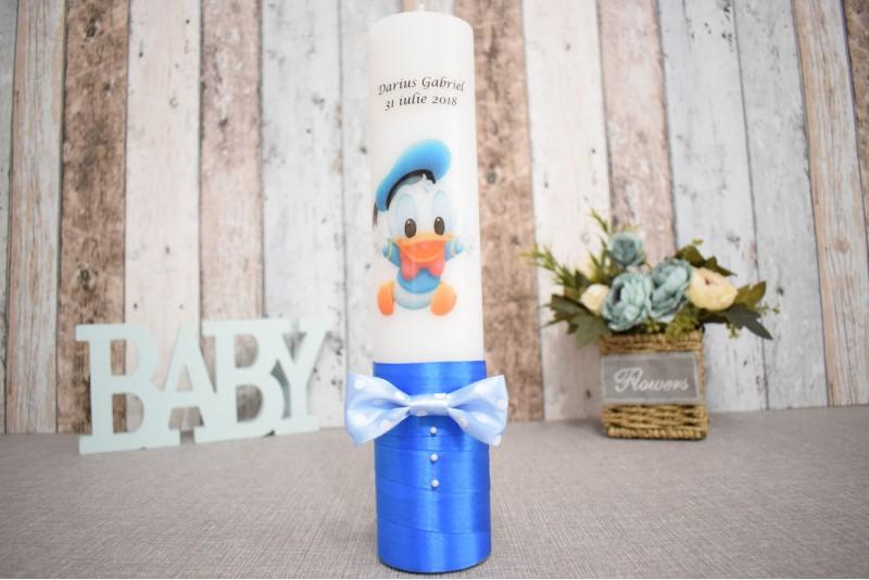 Lumanare de botez cu bebe Donald Duck