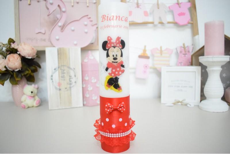 Lumanare botez cu Minnie Mouse