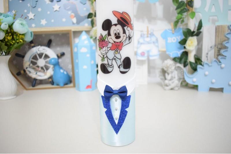 Lumanare botez personalizata Mickey Mouse