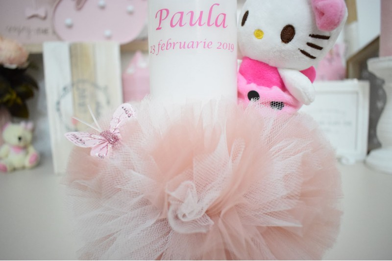 Lumanare botez cu Plus Hello Kitty