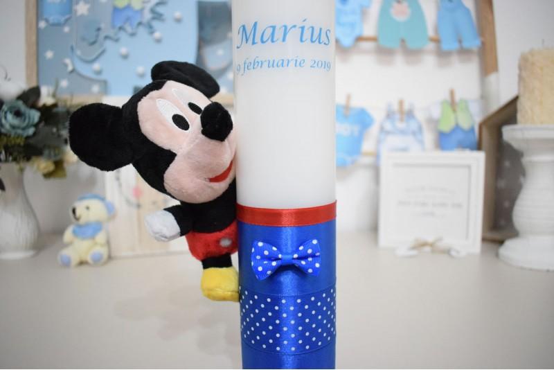 Lumanare botez cu Plus Mickey Mouse