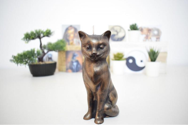 Lumanare Pisica Antichizata