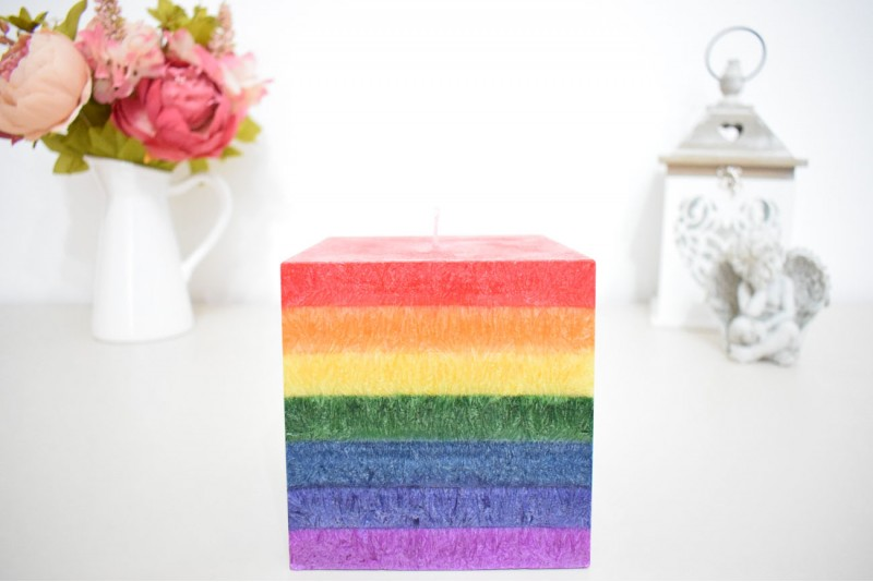Lumanare Cub Rainbow