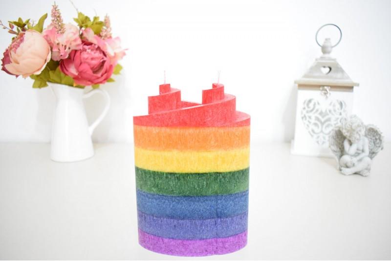 Lumanare Spirala Dubla Rainbow