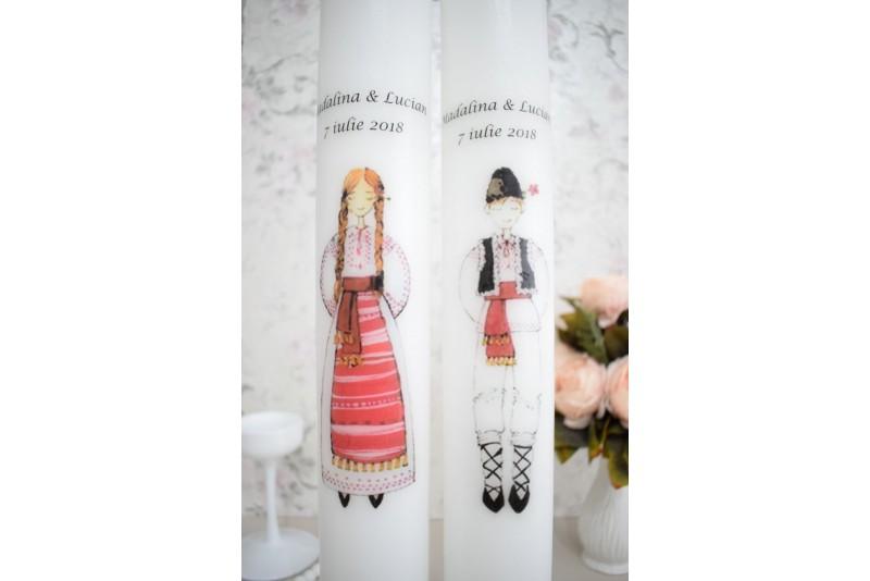 Lumanari de nunta traditionale