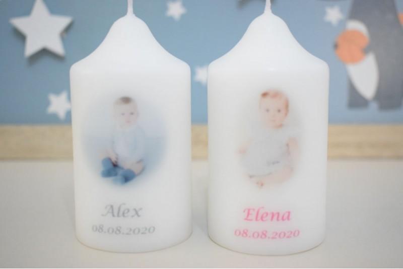 Marturie Botez Personalizata cu Poza Bebelusului