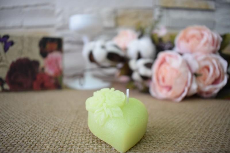 Marturie nunta lumanare inimioara cu trandafiri