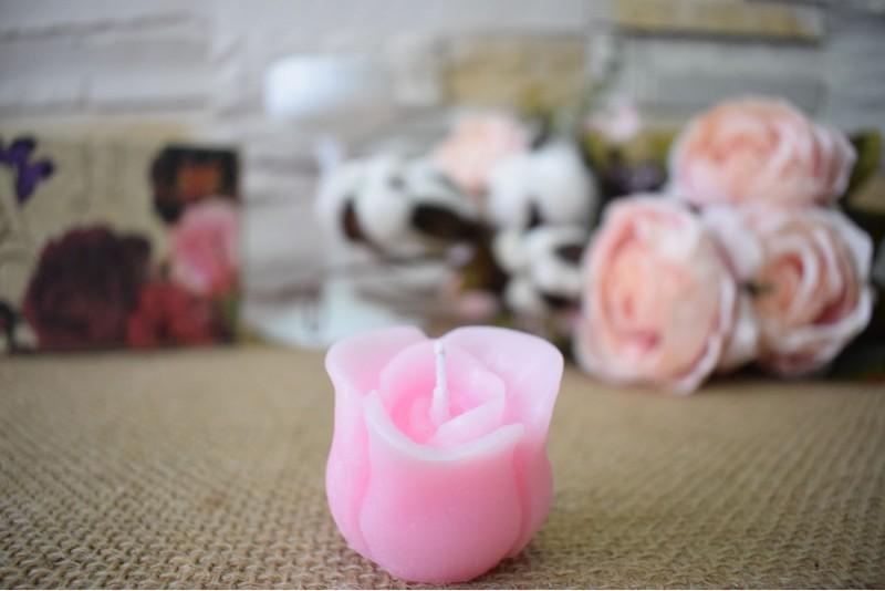 Marturie nunta lumanare trandafir boboc
