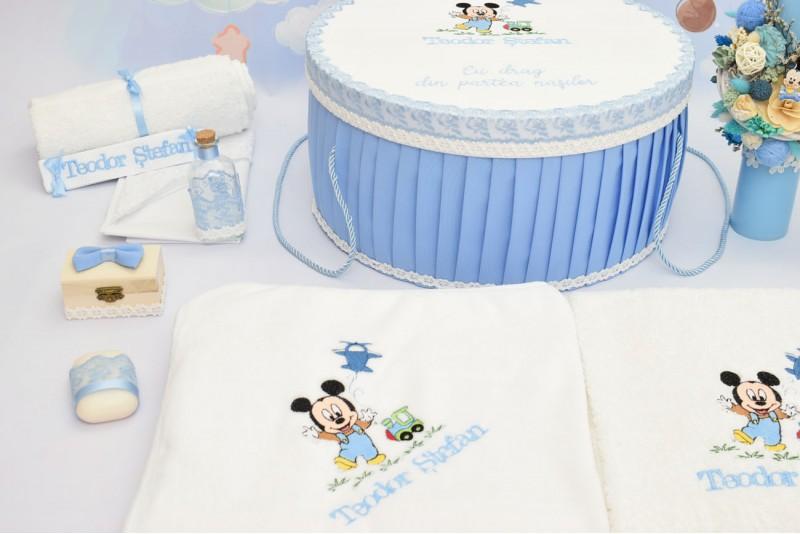 Trusou Botez Baby Mickey Bleu