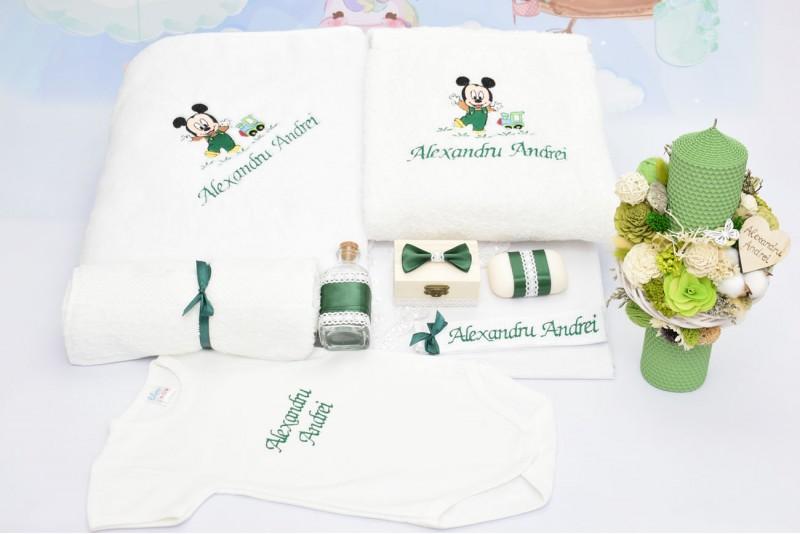 Trusou Botez Baby Mickey Verde