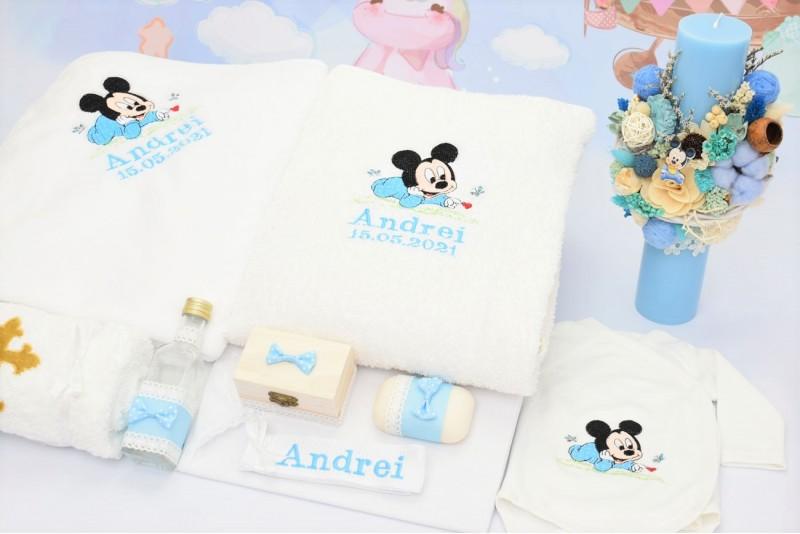 Trusou Botez Bebe Mickey Mouse Bleu