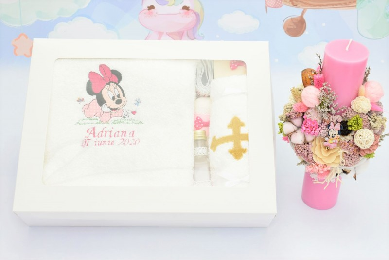 Trusou Botez Bebe Minnie Mouse Roz