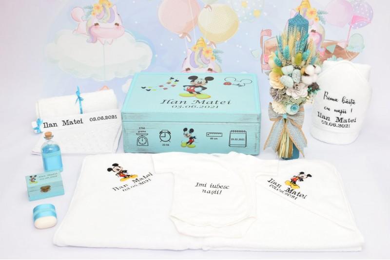 Set Trusou Botez Personalizat Mickey Mouse